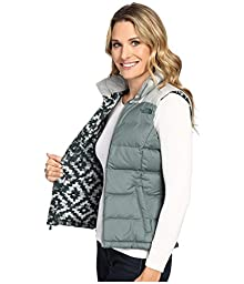 The North Face Nuptse 2 Vest - Women\'s Balsam Green/Wrought Iron Medium
