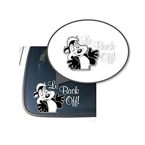 "Pepe-Le-Pew/""Le Back Off!/"" Vinyl Decal Sticker for Cars//Trucks"