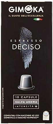 Cápsulas de Café Gimoka Deciso, Compatível Com Nespresso, Contém 10 Cápsulas