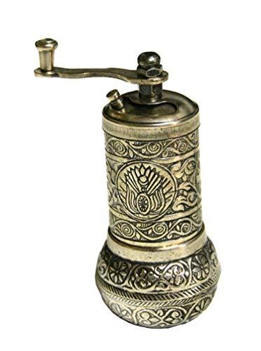 Turkish Handmade Copper Coffee Salt Pepper Spice Grinder Mill 4.2 (ANTIQUE)