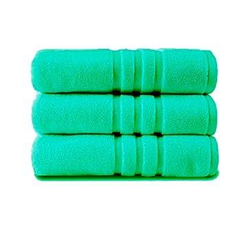 Z&T - Juego de 2 Toallas de baño de algodón Egipcio 100% Puro, Toallas