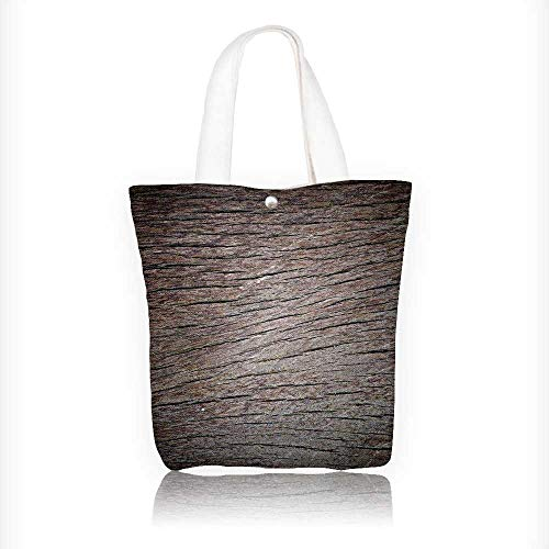 - canvas tote bag Wooden texture reusable canvas bag bulk for grocery,shopping W11xH11xD3 INCH