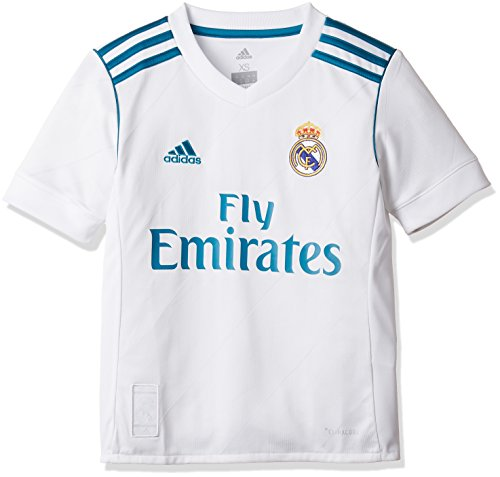 new product e3839 feeb3 adidas Boy's Real Madrid Home Short Sleeve Jersey, boys ...