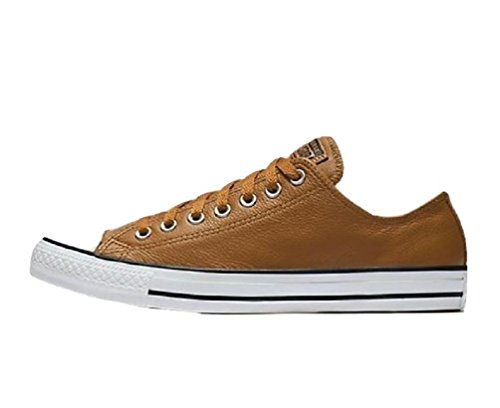 Converse Chuck Taylor All Star Tumbled Leather Low Top Sneaker, Burnt Caramel/Burnt Caramel, 9.5 M (Taylor Caramel)