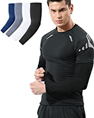 Newbyinn 2 & 4 Pair Arm Sleeves for Men Women Youth, Cooling UV Sun Protection, Compression, Tattoo Cove