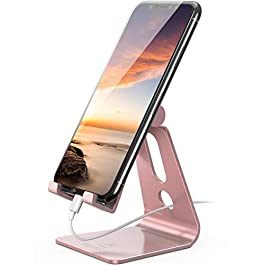 Adjustable Cell Phone Stand – Lamicall Phone Desk Holder, Cradle, Dock, Mobile Smartphone Stand, Compatible with iPhone…
