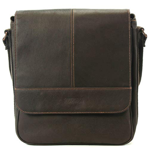 Kenneth Cole Reaction Colombian Leather Single Compartment Flapover Tablet Case, - Kenneth Bag Cowhide Cole Messenger