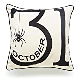 Todens Halloween Letters Pumpkin Pattern Pillowcase Linen Throw Pillow Cover for Home Decor 1PC