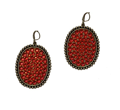 Pink Panache Earring Large Silver Oval - Pink Oval Coral Earrings