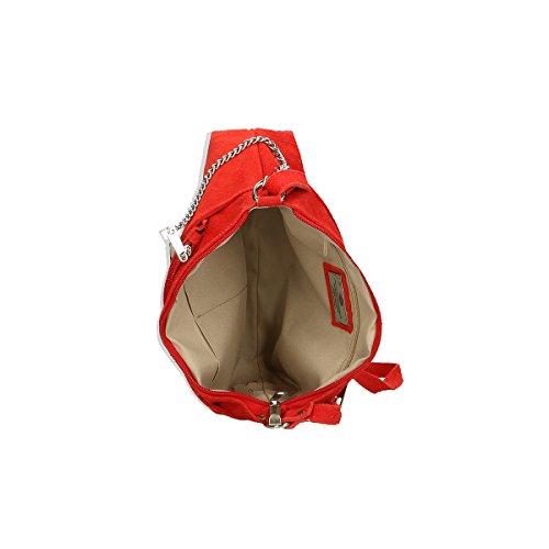 Chicca Borse Piel genuina bolso 29x17x8 Cm Rojo