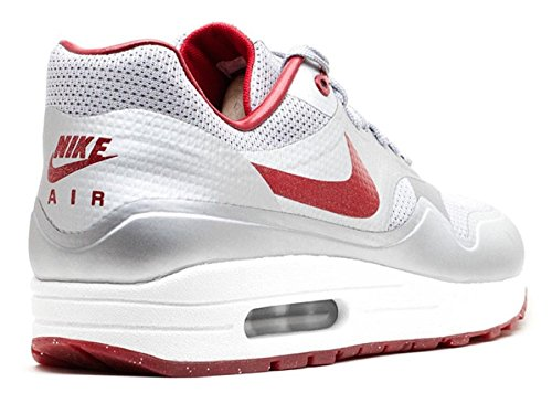 Nike Air Max 1 HYP QS Mens Running Shoes 633087-006 Metallic Silver Deep Red-Sail 10.5 M US by Nike (Image #2)