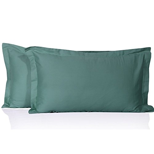 Egyptian Quality Cotton Solid Pattern 2 PC Pillow Sham 600 Thread Count All Size & Colors. (Standard 20