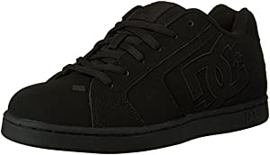 DC Men's Net Lace-Up Shoe, Black/Black/Black, 9.5 M US