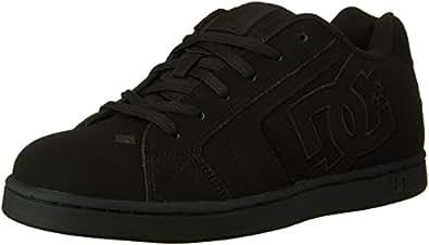 DC Men's Net Lace-Up Shoe, Black/Black/Black, 6 M US