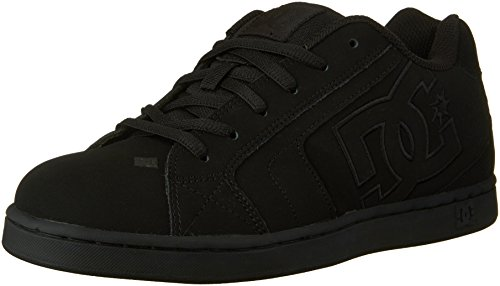 DC Men's Net Lace-Up Shoe, Black/Black/Black, 13 M US