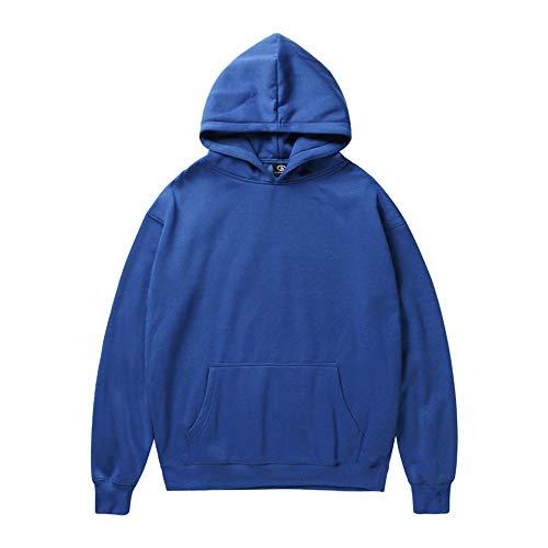 Men Women Pullover Winter Christmas Cat Print Long Sleeve Hooded Sweatshirt Tops Blouse ANJUNIE(2-Blue,XL)
