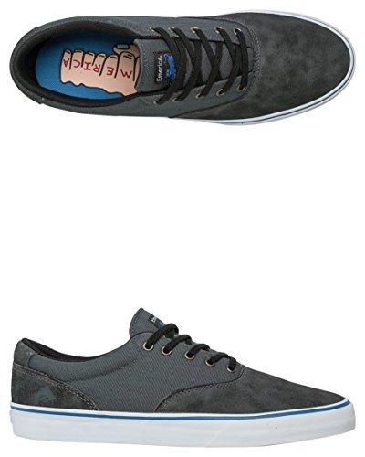 Emerica Provost Mince Vulc X Machine Jouet, Herren Skateboardschuhe Noir / Gris