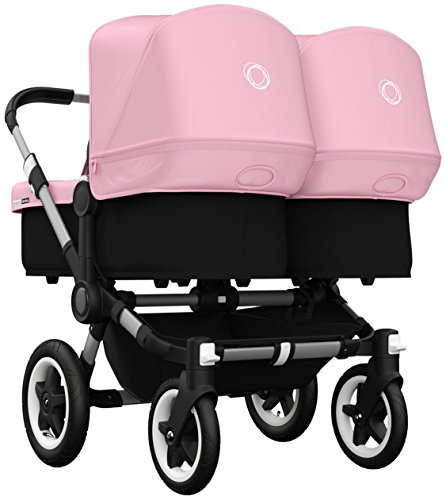 Bugaboo Donkey Twin Stroller Bundle - Soft Pink - Aluminum Base