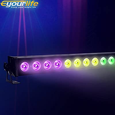 "Eyourlife 40"" 24 x 3W LED Wall Wash Lighting Stage Lighting Can Lighting RGB 3 In 1 Disco Light"