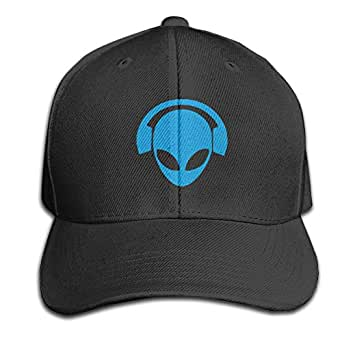 Blue Alien DJ - Gorra de sándwich Ajustable, Color Puro Negro ...
