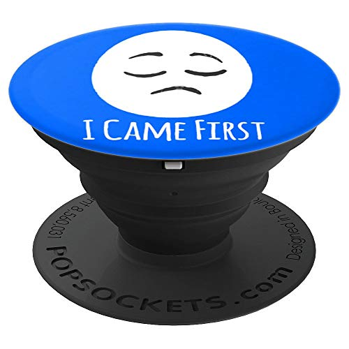 Egg Wins I came First Funny Chicken versus Egg - PopSockets Grip and Stand for Phones and Tablets -