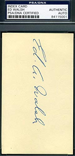 ED WALSH PSA DNA Mint Autograph 3x5 Signed Index Card