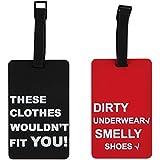 Home-X Humorous Luggage Tags. Set of 2