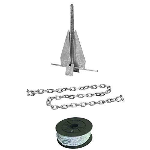 Lb. Galvanized Deluxe Splip Ring Fluke Anchor Kit, 50-41722 ()