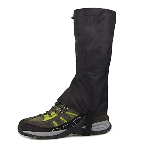 Snow Legging, Inkach Outdoor Escursionismo Ghette Coprigambe Boot Legging Wrap Impermeabili Scarpe Ghette Nere