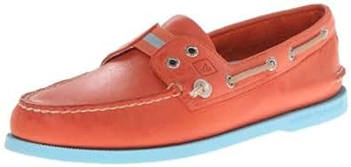 Sperry Top-Sider Men's A/O 2 Eye Gore Boat Shoe,Orange/Blue,7 M US