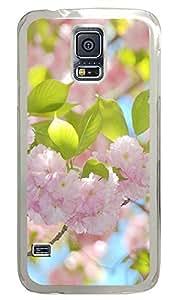 Samsung Galaxy S5 Beautiful pink flowers 2 PC Custom Samsung Galaxy S5 Case Cover Transparent
