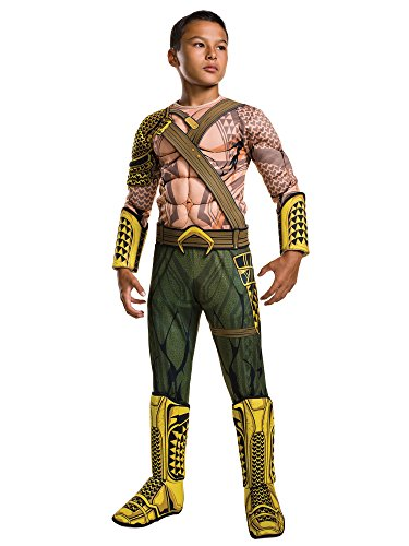 [Rubie's Costume Batman v Superman: Dawn of Justice Aquaman Deluxe Child Costume, Small] (Aquaman Costume For Kids)
