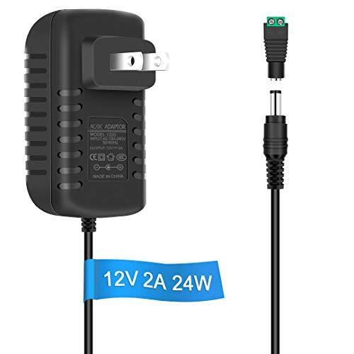LightingWill LED Power Supply, Power Adapter, AC 100-240V to DC 12V Transformers, Power Supply for LED Strip Light, Output 12V DC, 2A Max, 24 Watt Max
