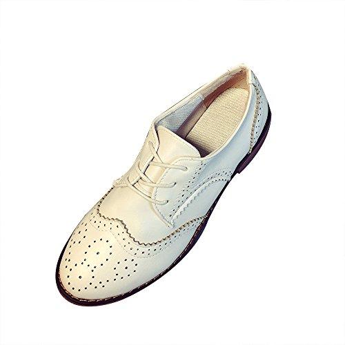 hunpta - Zapatillas de nordic walking de Piel Sintética para mujer Beige