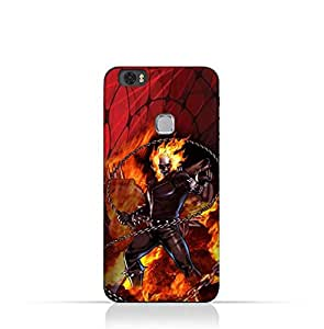 Huawei Honor Note 8 TPU Silicone Protective Case with Ghost Rider Design