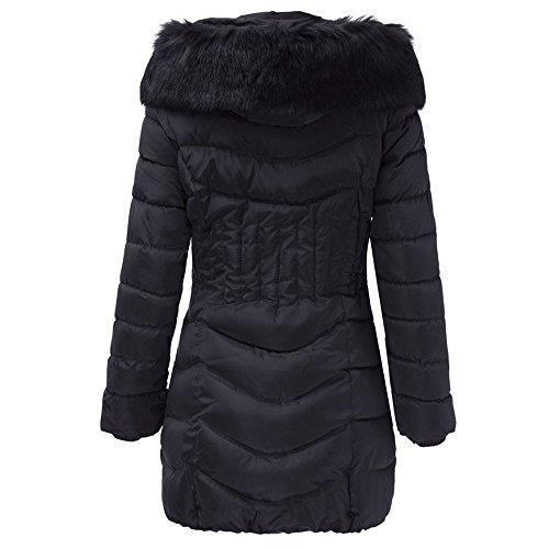 Slim Manteau Longue Chaud Trench Magiyard Noir Manteau Mode Outwear Femmes Coton Hiver Veste qXz0Hgz