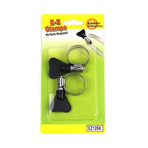Koehler Enterprises EZ12BK EZ Clamp Blister Pack, 2 Piece (SAE Size 12, No Tools Required)