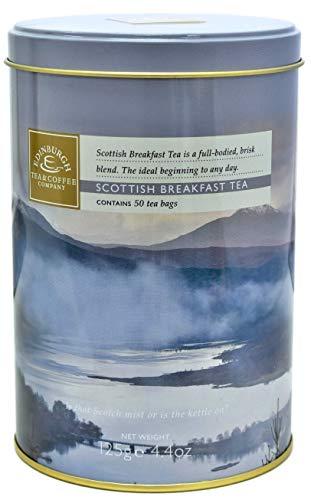 Edinburgh Tea & Coffee Company - Scottish Breakfast Tea, 50 Teabags 4.4 Ounce (And Tea Coffee Tins)