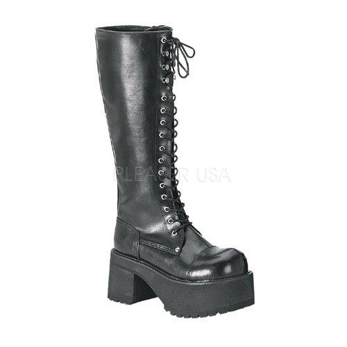Pleaser Men's Ranger 302 Lace-Up Boot,Black PU,4 M US
