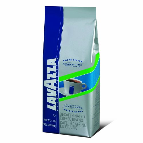 Lavazza Gran Filtro Decaffinated - Whole Bean Coffee, 1.1-Pound Bag