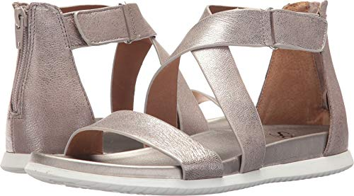 (Sofft Womens Fiora Leather Open Toe Casual Strappy Sandals, Anthracite, Size 9.0)