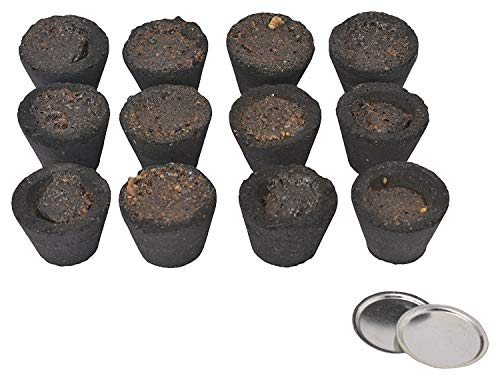 - SHINE MILL Divine Religious Pooja Fragrance Guggal Sambrani 120 Dhoop Cups with Holder Plate for Everyday Use insences