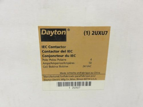 IEC Non-Reversing Contactor 4 Poles 50A 24VAC 5.08'' x 5.08'' x 5'' NEW