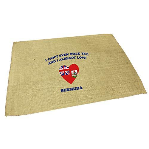 Can'T Even Walk Yet Already Love Bermuda Jute Burlap Placemat Table Mat