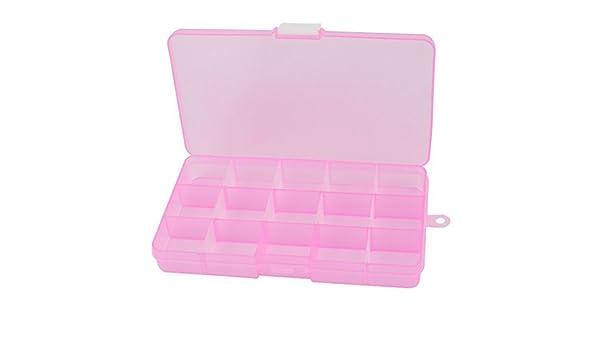 Ajustável rosa Caixa da jóia 15 slots de armazenamento Tool Box Artesanato Organizer: Amazon.es: Oficina y papelería