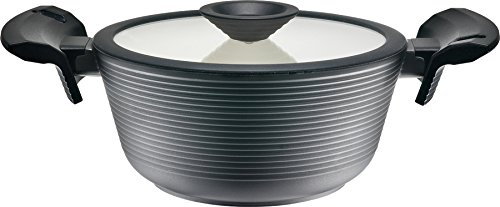 Domo D59CV20 2.10 quart Dutch Oven, Medium, Black