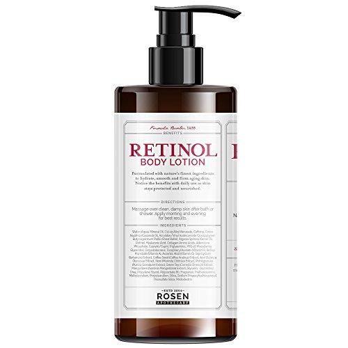 41PpJFDLO8L - Rosen Apothecary Anti-Aging Retinol Body Lotion - Age Defy - Body Firms & brightens 32oz / 960ml