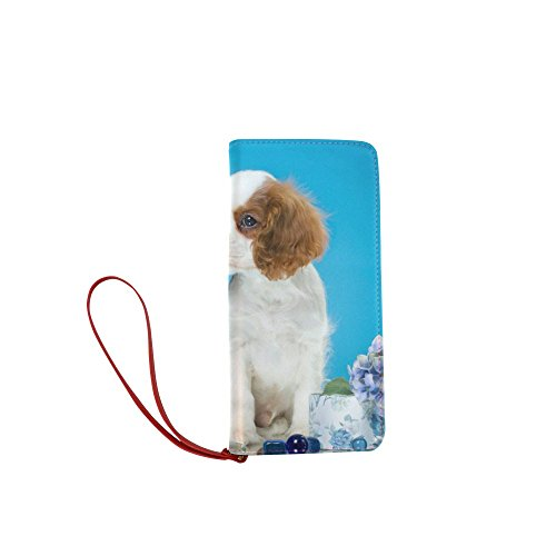 Women's Puppy Dog Pet Clutch Wallet Purse with Wrist Strap (Pets Puppy Gnc Shampoo)
