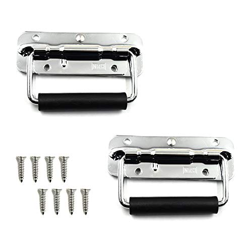 TOUHIA Metal Surface Spring Loaded Case Handle (2PCS)