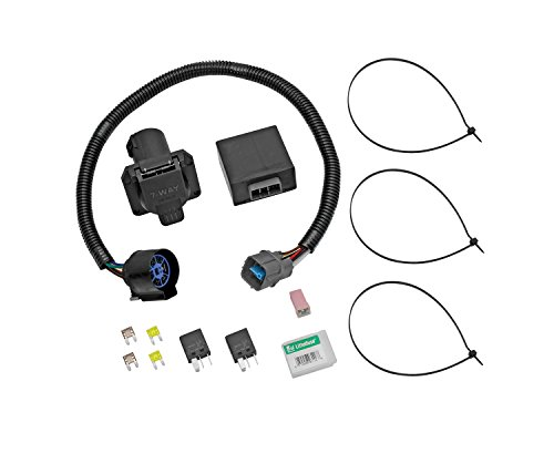 Tekonsha 118253 7-Way Tow Harness Wiring Package with Circuit Protected ModuLite HD Module